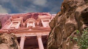 Petra,约旦,中东--它是约旦的标志,以及约旦` s最参观了旅游胜地 股票录像