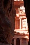 Petra,考古学公园,约旦,中东 免版税图库摄影