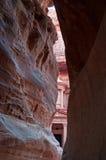Petra,考古学公园,约旦,中东 免版税库存照片