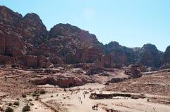 Petra,考古学公园,约旦,中东 库存照片