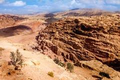 Petra-öken Arkivfoton