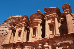Petra, αρχαιολογικό πάρκο, Ιορδανία, Μέση Ανατολή Στοκ Φωτογραφία