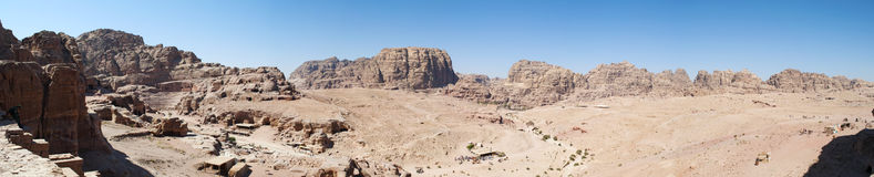 Petra, αρχαιολογικό πάρκο, Ιορδανία, Μέση Ανατολή Στοκ φωτογραφία με δικαίωμα ελεύθερης χρήσης