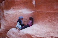 Petra, αρχαιολογικό πάρκο, Ιορδανία, Μέση Ανατολή Στοκ εικόνες με δικαίωμα ελεύθερης χρήσης
