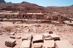 Petra, археологический парк, Джордан, Ближний Восток Стоковая Фотография
