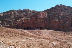 Petra, археологический парк, Джордан, Ближний Восток Стоковые Фотографии RF