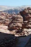 Petra, археологический парк, Джордан, Ближний Восток Стоковое Изображение RF