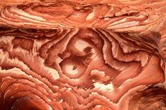 PETRA, ДЖОРДАН: Красочный песчаник Стоковая Фотография