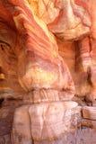 PETRA, ДЖОРДАН: Красочный песчаник Стоковое Фото