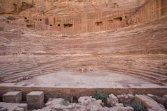 petra Иордана амфитеатра римский Стоковые Фото