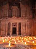 Petra к ноча стоковая фотография rf