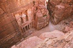 Petra - древний город Стоковые Изображения