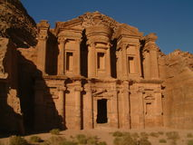 petra скита Иордана deir al Стоковые Изображения RF