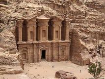 Petra 峡谷 广告eir 图库摄影
