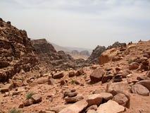 Petra 峡谷 图库摄影
