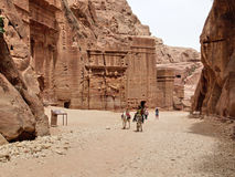 Petra 峡谷 库存照片