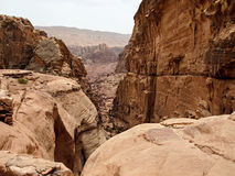 Petra 峡谷 库存图片