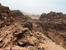 Petra 峡谷 免版税图库摄影