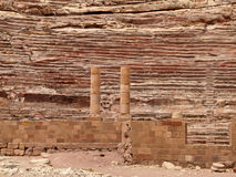 Petra 罗马的圆形剧场 免版税图库摄影