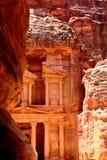 Petra. Treasury temple at Petra (Al Khazneh), Jordan Royalty Free Stock Photography