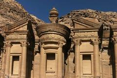 Petra. El-Deir temple details in Petra ancient city Stock Image