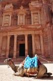 Petra. Great Treasury in Petra,Jordan Royalty Free Stock Photo