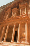 Petra. Great Treasury in Petra,Jordan Royalty Free Stock Photo
