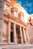 Petra. Al Khazneh - the treasury of Petra ancient city, Jordan Stock Photography