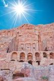 Petra. Ruins ancient city Petra, Jordan Stock Images