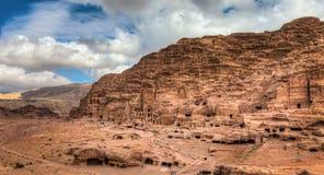 Petra坟茔  图库摄影