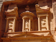 Petra. Very beautiful place in jordan, Ancient City called the pink city, it Engraved in pink rocks stock photography