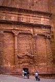 Petra. Nabatean tomb in Petra, Jordan royalty free stock photography