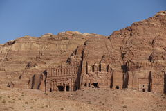 Petra. Ancient city curved out of sandstone in Jordan Stock Photos