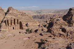 Petra. Ancient city curved out of sandstone in Jordan Stock Image