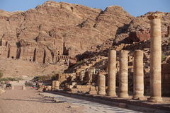 Petra. Ancient city curved out of sandstone in Jordan Royalty Free Stock Photo
