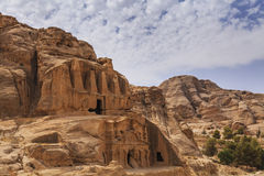 Petra, ancient city curved out of sandstone Royalty Free Stock Images