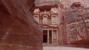 Petra. Petra - ancient city, view of Treasury from As Siq gorge. Jordan