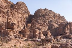Petra ancient and ruin city in Jordan, Middle east. Asia stock photo