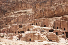 Petra, Jordan. Petra is an ancient town the capital of the Nabataean Kingdom. Petra is the most popular sight in Jordan Royalty Free Stock Image