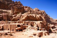 PETRA antico della città della roccia nel Giordano Fotografia Stock Libera da Diritti