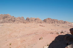 Petra, Bedouin, tent, Jordan, Middle East, mountain, desert, landscape, climate change. Jordan, Middle East 02/10/2013: jordanian landscape and Bedouin tents stock photo