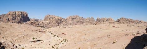 Petra, Bedouin, tent, Jordan, Middle East, mountain, desert, landscape, climate change. Jordan, Middle East 02/10/2013: jordanian landscape and Bedouin tents stock image