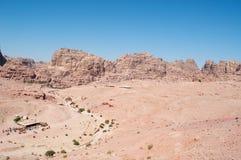 Petra, Bedouin, tent, Jordan, Middle East, mountain, desert, landscape, climate change. Jordan, Middle East 02/10/2013: jordanian landscape and Bedouin tents stock images