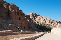 Petra, Archaeological Park, Jordan, Middle East Stock Photos