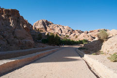 Petra, Archaeological Park, Jordan, Middle East Royalty Free Stock Image