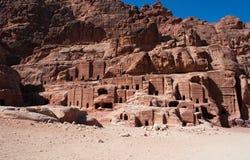 Petra, Archeologiczny park, Jordania, Środkowy Wschód Zdjęcia Stock