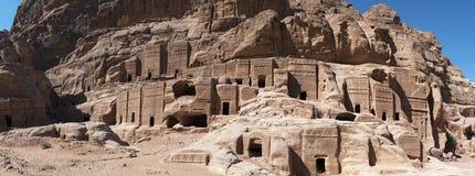 Petra, Archeologiczny park, Jordania, Środkowy Wschód Obraz Stock