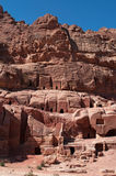 Petra, Archeologiczny park, Jordania, Środkowy Wschód Obraz Royalty Free