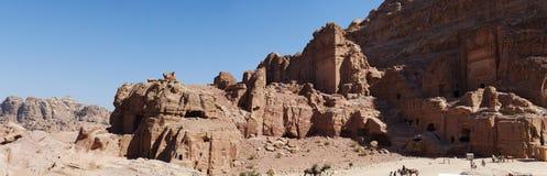 Petra, Archeologiczny park, Jordania, Środkowy Wschód Fotografia Royalty Free