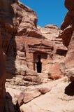 Petra, Archeologiczny park, Jordania, Środkowy Wschód Fotografia Stock